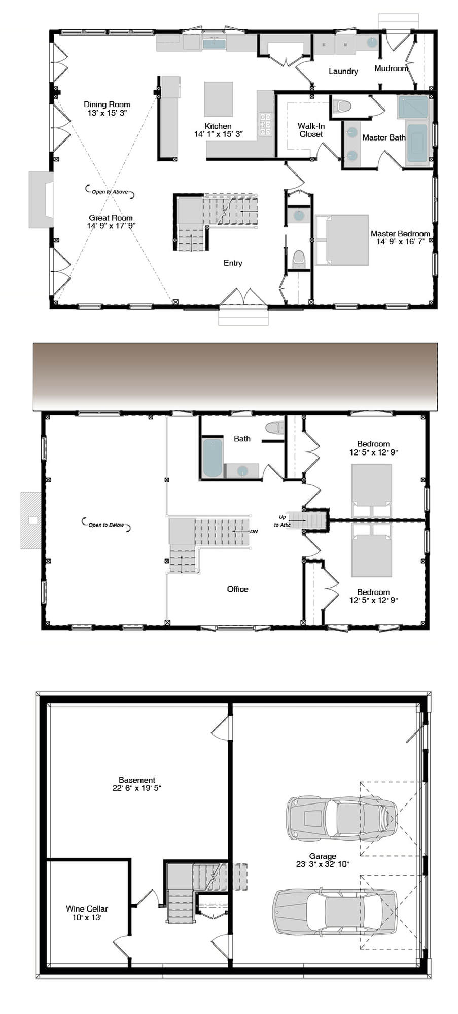 Haley floor plans american post beam homes modern for Post and beam house plans floor plans