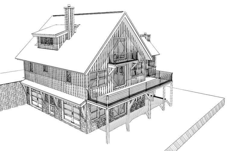 Residential floor plans american post beam homes for Modern carriage house plans