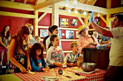 craft and cooking workshops are held in the barn
