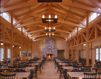 Trusses in the main dining hall