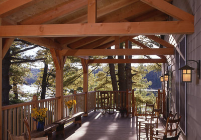 Front porch - Jewell Lodge