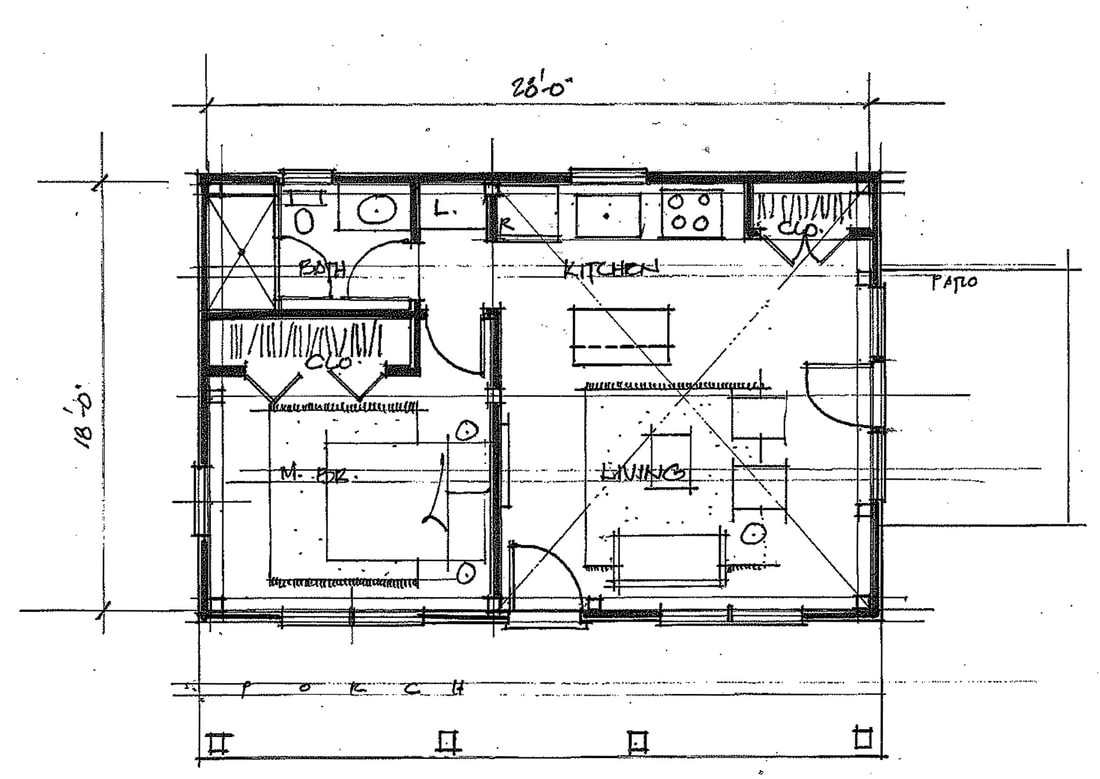 HIDEAWAY COTTAGE - floor plan